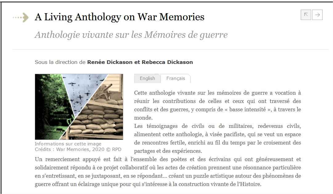 Anthologie vivante sur les Mémoires de guerre